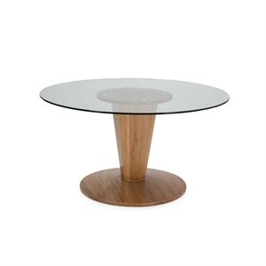 "Maria Yee Forte 54"" Round Glass Top Dining Table"