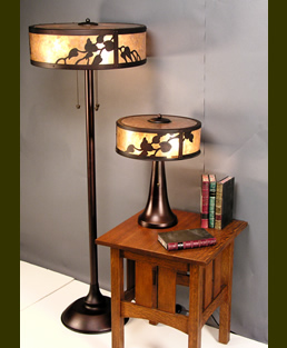 Mica Tendril Vine Floor Lamp and Table Lamp