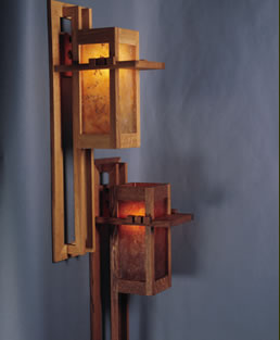 Mica Prairie Lake Sconce - Light Oak
