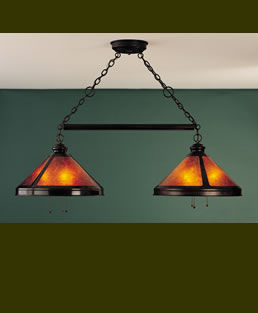Mica Billiard Light Fixture