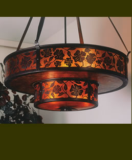 Mica Lantera Double Grand Chandelier