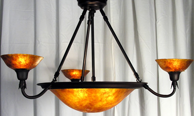 Mica Euro Chandelier - Orange