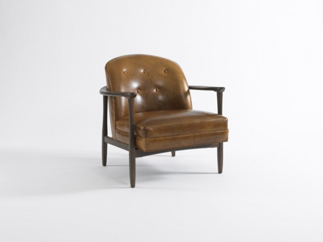 Dwell Studio Olsen Leather Chair Mitrani At Home