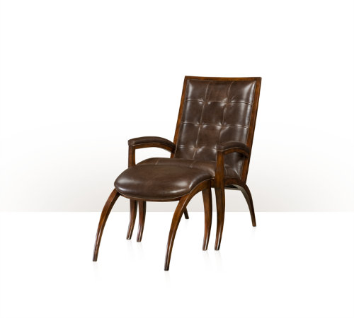 Keno Bros. Arc Chair & Ottoman