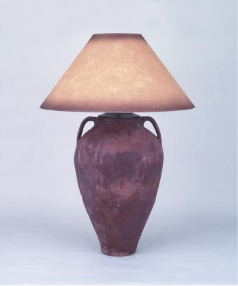 One of a kind Pottery Lamps