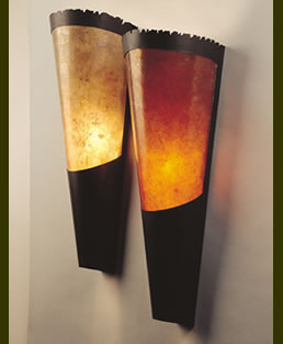 Mica Modern Torch Sconces