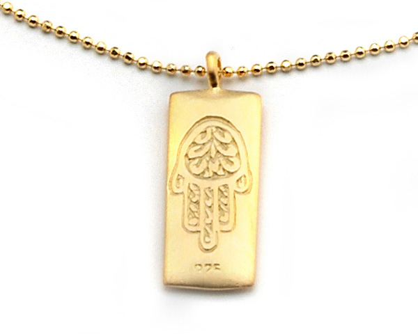 Satya Gold Hamsa Necklace - Protection