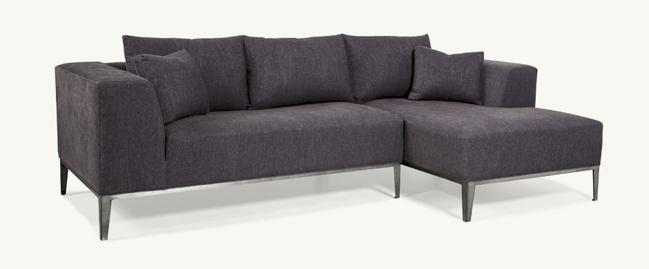 Younger Furniture Velvet Metal Base Sofa