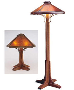 Mica Bungalow Table Lamp and Bungalow Floor Lamp