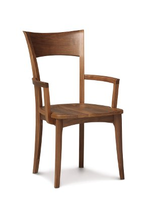 Copeland Catalina Ingrid Armchair in Walnut with Wooden Seat