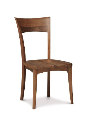 Copeland Catalina Ingrid Sidechair in Walnut with Wooden Seat