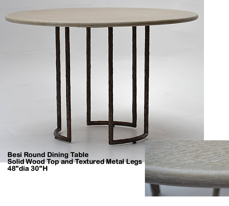 Indo Puri Besi Round Dining Table