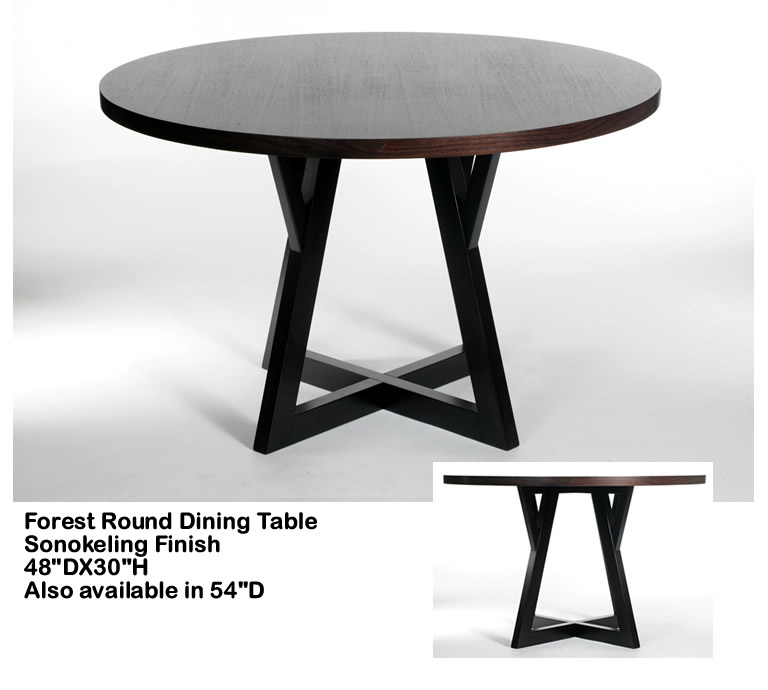 Indo Puri Forest Round Dining Table