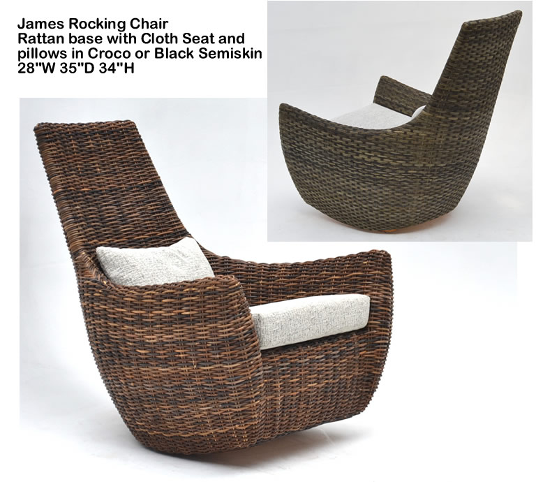 Indo Puri James Rocking Chair