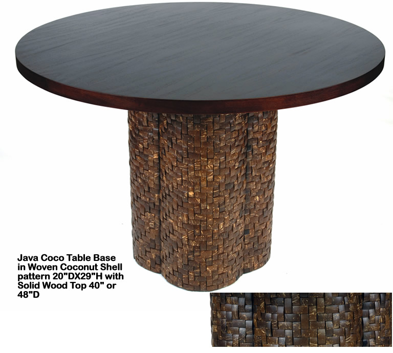 Indo Puri Java Coco Table Base