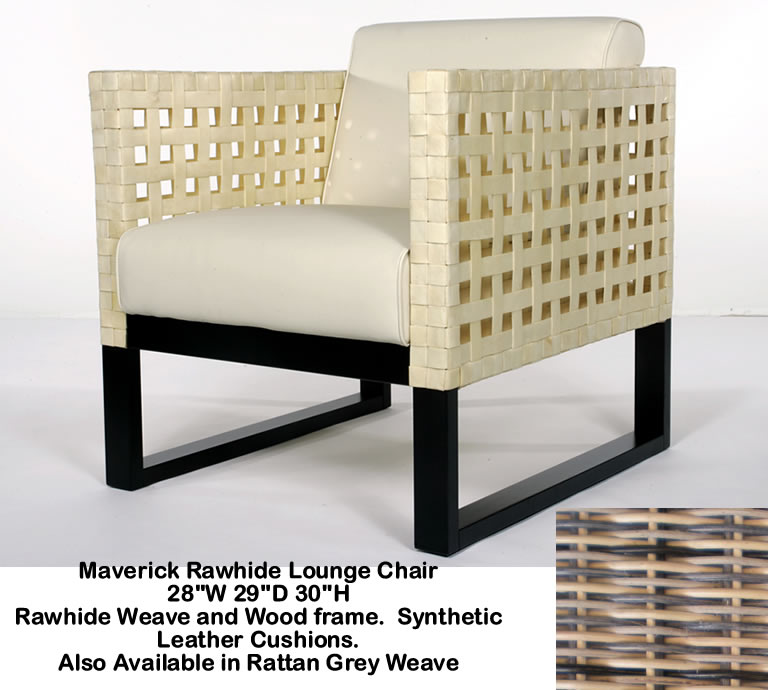 Indo Puri Maverick Rawhide Lounge Chair