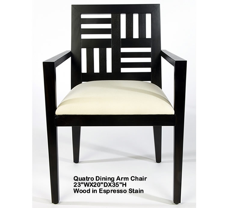 Indo Puri Quatro Dining Arm Chair