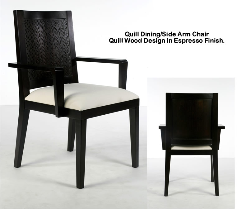 Indo Puri Quill Dining Arm Chair