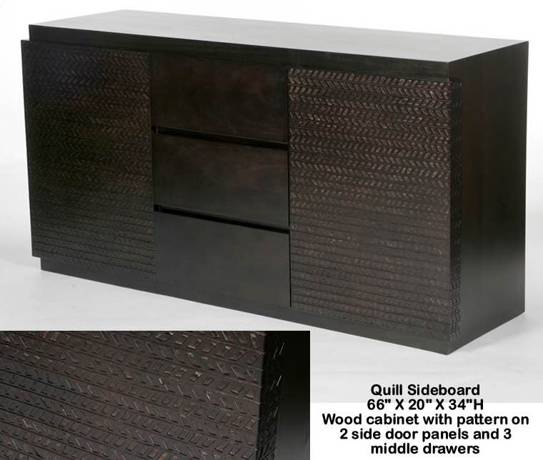 Indo Puri Quill Sideboard