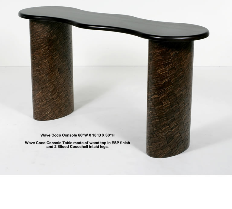 Indo Puri Wave Coco Console Table