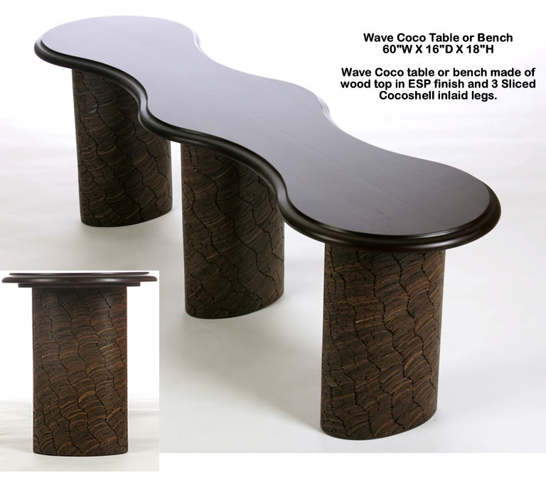 Indo Puri Wave Coco Table or Bench
