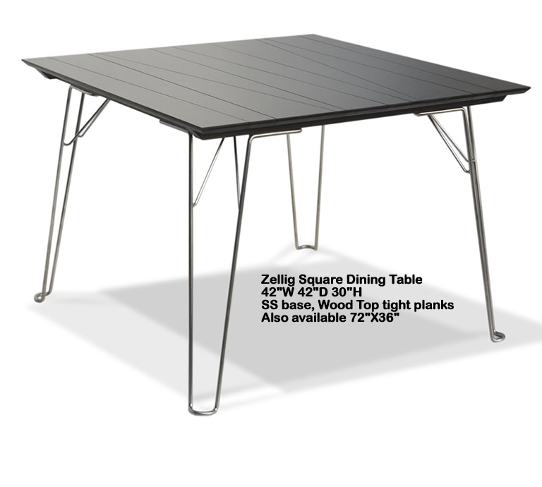 Indo Puri Zellig Square Dining Table