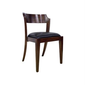 Maria Yee Montecito Notched Round Side Chair, Fabric