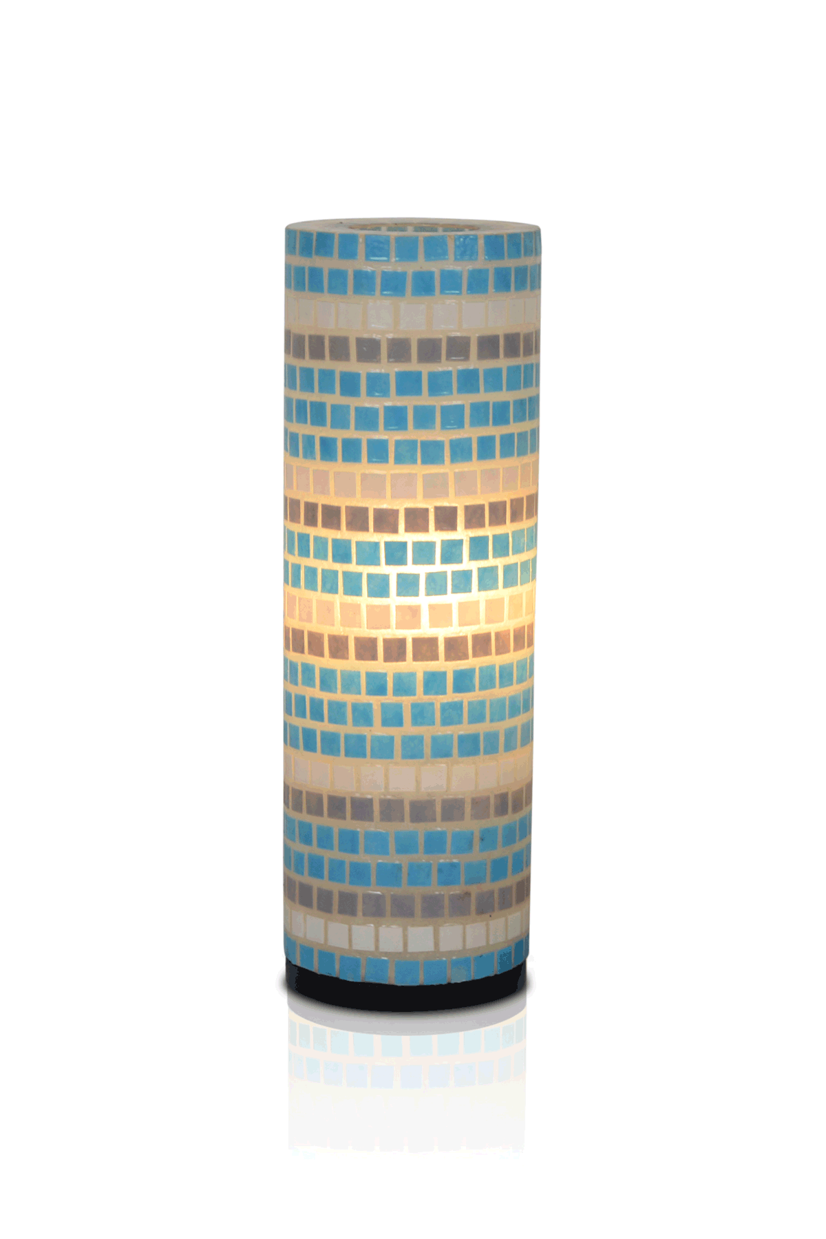 Portia Mosaic Round Table Lamp