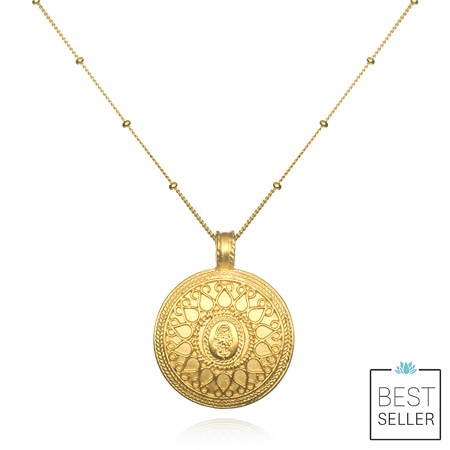 Satya Gold Hamsa Necklace