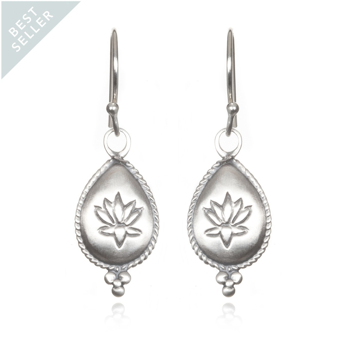 Satya Silver Lotus Earrings - Blissful Blooms