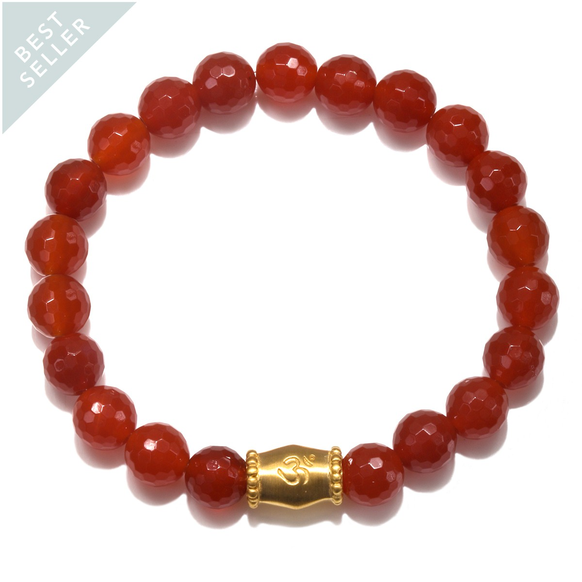 Satya Resonance Carnelian OM Bracelet