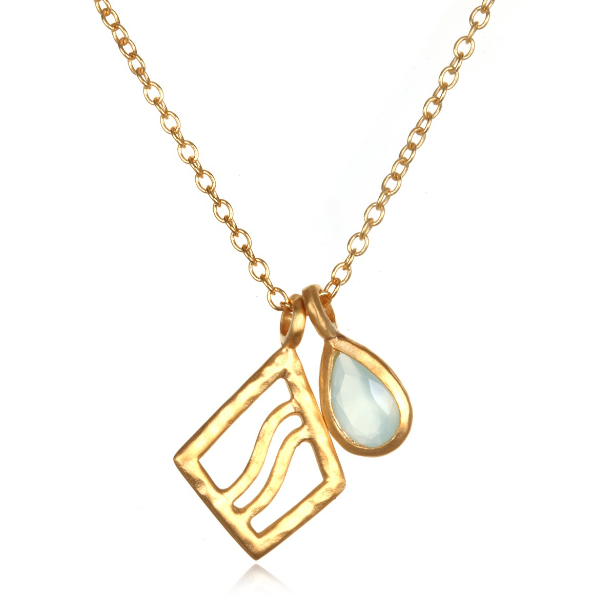 Satya Gold Blue Agate Wave