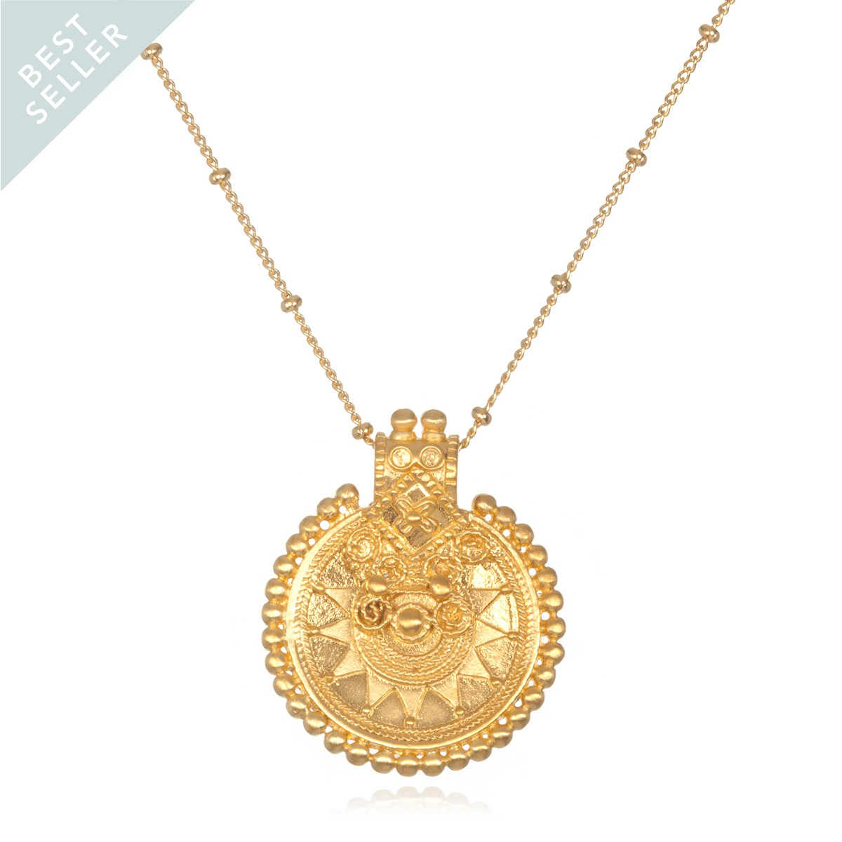 Satya Gold Mandala Necklace