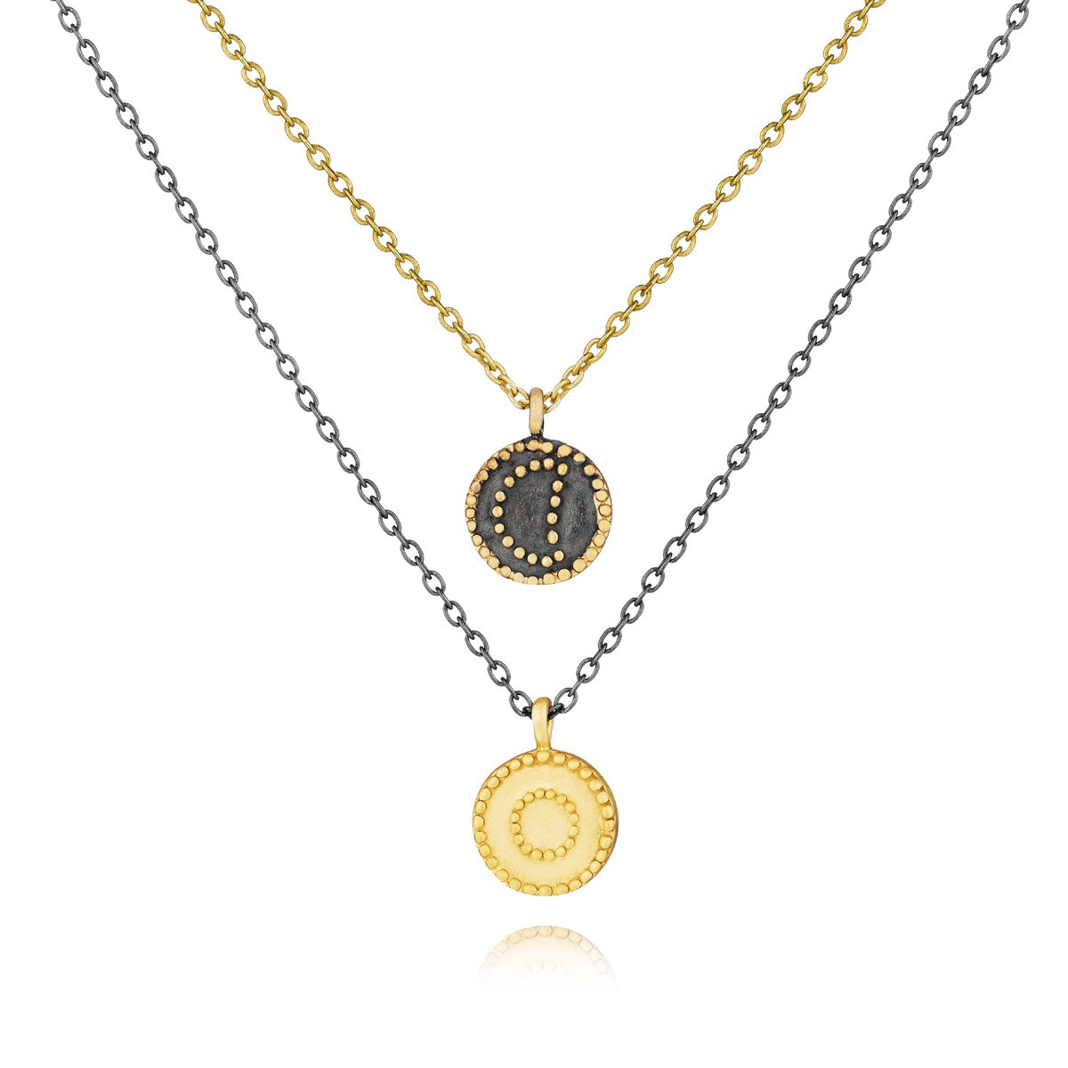 Satya Gunmetal And Gold Celestial Necklace - Twilight
