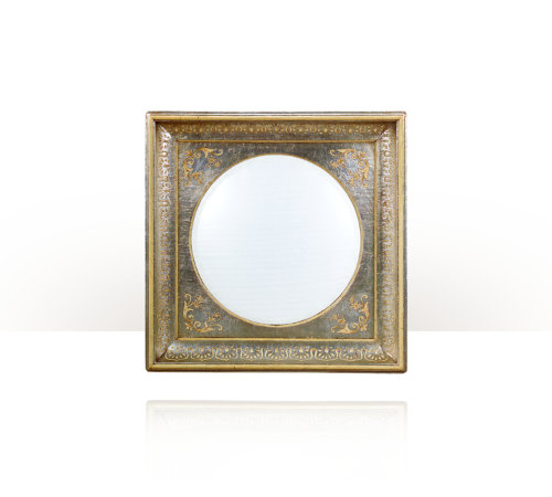 Theodore alexander circular convex mirror mitrani at home for Convex mirror for home