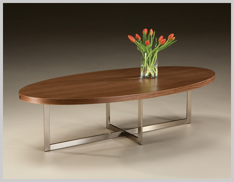 Thayer Coggin Export Oval Cocktail Table